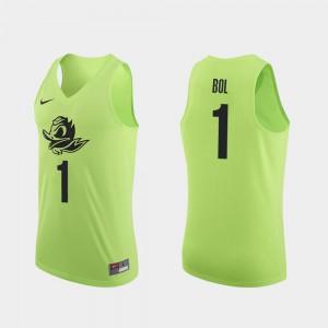 Mens Ducks #1 Bol Bol Apple Green Authentic College Basketball Jersey 741711-430