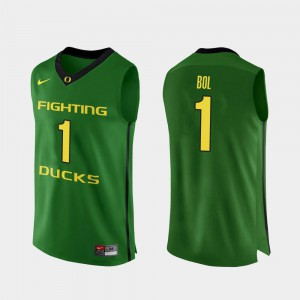 Men's UO #1 Bol Bol Apple Green Authentic College Basketball Jersey 556787-351