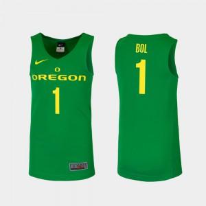 Mens University of Oregon #1 Bol Bol Green Replica College Basketball Jersey 347614-900