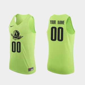 Mens Oregon Duck #00 Apple Green Authentic College Basketball Custom Jerseys 534041-971