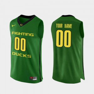 For Men UO #00 Apple Green Authentic College Basketball Customized Jerseys 505081-808
