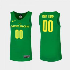 Men Oregon #00 Green Replica College Basketball Custom Jerseys 310375-638