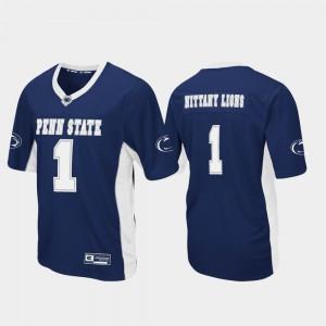 Men Nittany Lions #1 Navy Max Power Football Jersey 454504-608