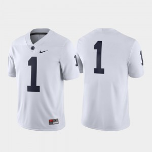 For Men's Nittany Lions #1 White Game Jersey 421320-173