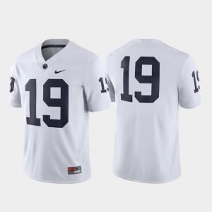 Mens Penn State #19 White Game Football Jersey 435011-609