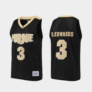 Men's Purdue Boilermakers #3 Carsen Edwards Black Alumni Purdue Boilermaker Basketball Jersey 262166-567