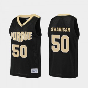 Mens Purdue University #50 Caleb Swanigan Black Alumni Basketball Jersey 477091-902