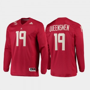 Men Scarlet Knights #19 Scarlet 150th Anniversary Strategy Long Sleeve College Football Jersey 652278-804