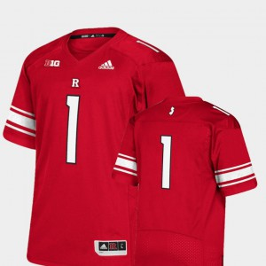 Men's Rutgers University #1 Scarlet College Football Premier Jersey 995392-640