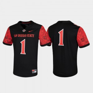 Mens San Diego State #1 Black Untouchable Game Jersey 292619-620