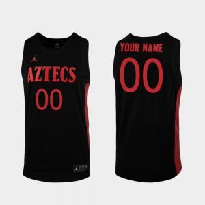 Men San Diego State #00 Black Replica College Basketball Custom Jerseys 266322-838