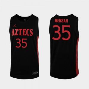 Men San Diego State Aztecs #35 Joel Mensah Black Replica 2019-20 College Basketball Jersey 991042-572