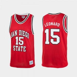 Men's Aztecs #15 Kawhi Leonard Red Authentic College Basketball Jersey 745821-146