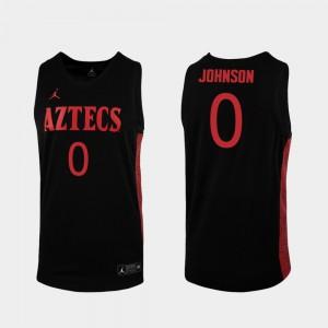 Men San Diego State Aztecs #0 Keshad Johnson Black Replica 2019-20 College Basketball Jersey 116969-964
