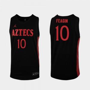 Mens Aztecs #10 KJ Feagin Black Replica 2019-20 College Basketball Jersey 907205-764