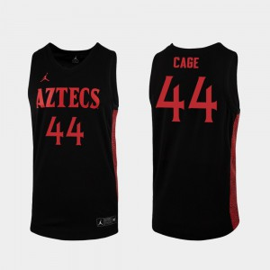 Men San Diego State #44 Michael Cage Black Replica 2019-20 College Basketball Jersey 708441-696