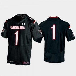 For Men University of South Carolina #1 Black Premier College Football Jersey 141990-587