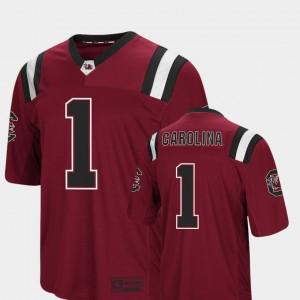 For Men's USC Gamecocks #1 Garnet Foos-Ball Football Colosseum Jersey 813273-219