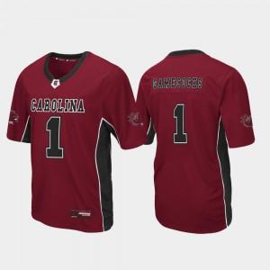 For Men's Gamecocks #1 Garnet Max Power Football Jersey 985306-419