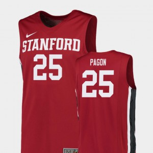For Men's Stanford Cardinal #25 Blake Pagon Red Replica College Basketball Jersey 451984-819