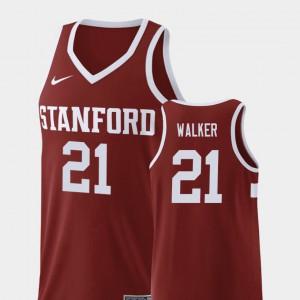Mens Stanford #21 Cameron Walker Wine Replica College Basketball Jersey 364841-800