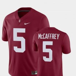 For Men's Cardinal #5 Christian McCaffrey Cardinal Alumni Football Game Player Jersey 377352-815