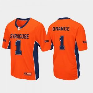Mens Cuse Orange #1 Orange Max Power Football Jersey 328461-620