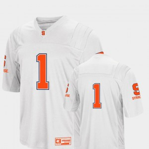 For Men Cuse Orange #1 White College Football Colosseum Jersey 375457-589
