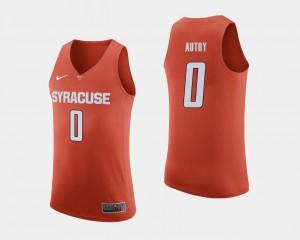 Mens Cuse Orange #0 Adrian Autry Orange College Basketball Jersey 476635-360