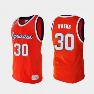 Mens Orange #30 Billy Owens Orange Alumni College Basketball Jersey 857754-923