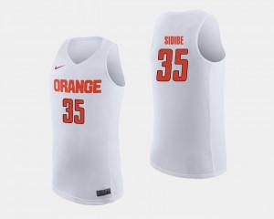 For Men's Syracuse University #35 Bourama Sidibe White College Basketball Jersey 966238-611