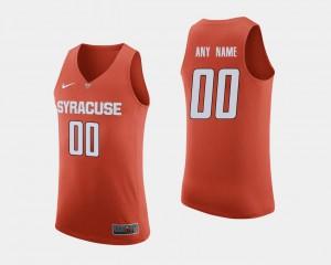 Men Cuse Orange #00 Orange College Basketball Customized Jersey 627676-544