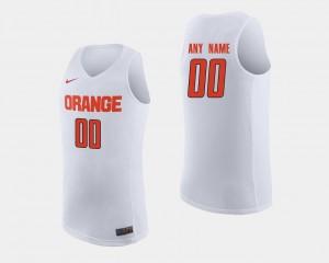Mens Orange #00 White College Basketball Customized Jersey 924086-219