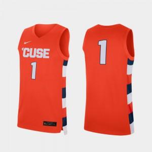 Mens Cuse Orange #1 Orange Replica College Basketball Jersey 358269-825