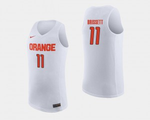 Men's Orange #11 Oshae Brissett White College Basketball Jersey 213665-274