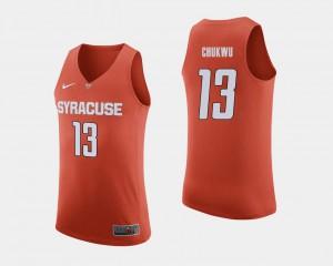 Men's Syracuse Orange #13 Paschal Chukwu Orange College Basketball Jersey 539119-363