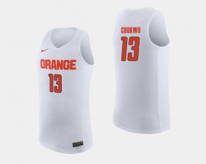 Men Cuse Orange #13 Paschal Chukwu White College Basketball Jersey 553346-144