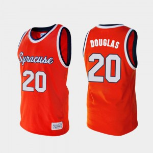 Mens Syracuse #20 Sherman Douglas Orange Alumni College Basketball Jersey 594662-180