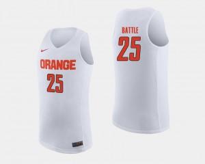 Mens Cuse #25 Tyus Battle White College Basketball Jersey 838441-153
