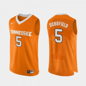 For Men UT #5 Admiral Schofield Orange Authentic Performace College Basketball Jersey 788740-825