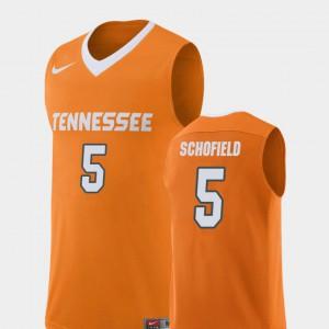 For Men's UT Volunteer #5 Admiral Schofield Orange Replica College Basketball Jersey 222889-796