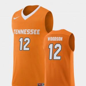 Men's Tennessee #12 Brad Woodson Orange Replica College Basketball Jersey 293757-296