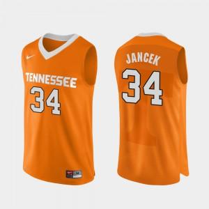 Men Tennessee #34 Brock Jancek Orange Authentic Performace College Basketball Jersey 724762-913