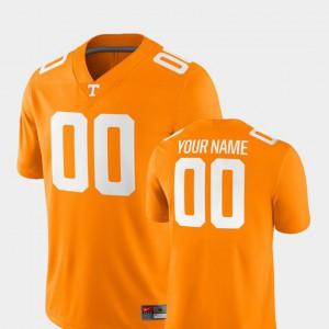 Mens UT Volunteer #00 Tennessee Orange College Football 2018 Game Customized Jersey 129870-367