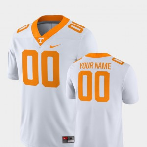 Men Tennessee #00 White College Football 2018 Game Customized Jersey 618233-542