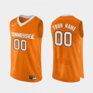 Mens UT #00 Orange Authentic Performace College Basketball Custom Jerseys 694052-507