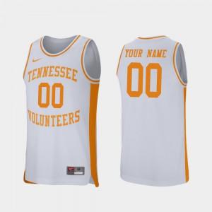 Men Tennessee #00 White Retro Performance College Basketball Custom Jerseys 273911-625