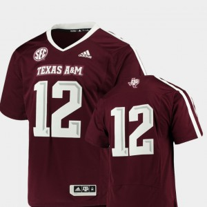 Mens Aggies #12 Maroon College Football Premier Jersey 659641-893