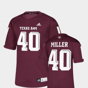 Mens Aggies #40 Von Miller Maroon NFLPA Alumni Chase Replica Jersey 808284-371