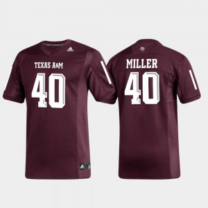 For Men's Aggie #40 Von Miller Maroon Replica Alumni Football Jersey 706643-228